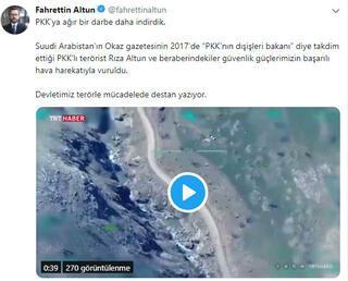 Terör örgütü PKKnın tepe kadrosuna ağır darbe Cumhurbaşkanlığından peş peşe açıklamalar