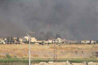 Terör örgütü YPG/PKK tarım arazilerini ateşe verdi