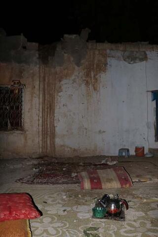 Ceylanpınarda roketin isabet ettiği ev görüntülendi