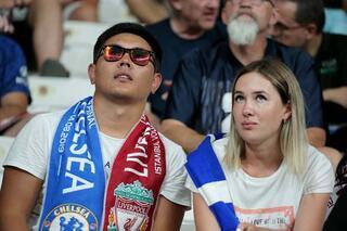 Liverpool - Chelsea Süper Kupa maçından kareler