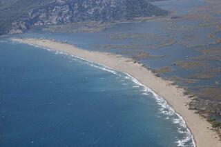 Doğal labirent Dalyan deltası