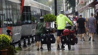 Alman bisikletçilerin dünya turu Türkiyede devam ediyor