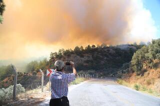 İzmir ve Muğlada orman yangını