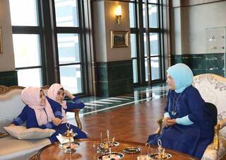 Cumhurbaşkanı Erdoğan, siyam ikizleriyle bir araya geldi