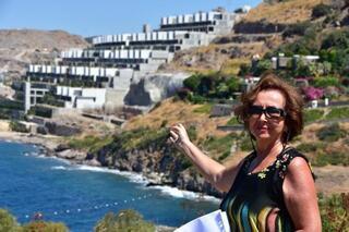 Bakan Kurumun durdurulduğunu açıkladığı otel inşaatları havadan görüntülendi