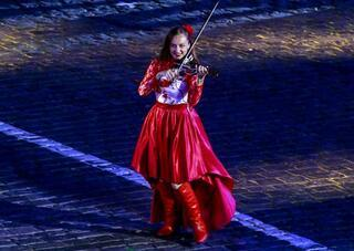 Kızıl Meydanda Türk mızıkasına büyük ilgi