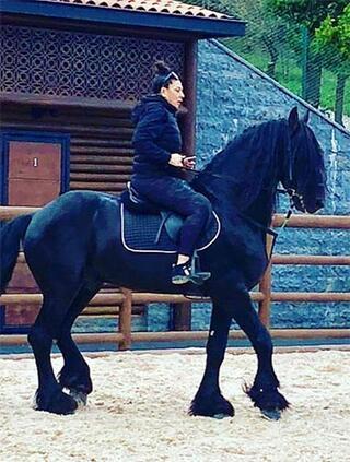 Işın Karaca ve eşi yarış atlarına yatırım yapıyor