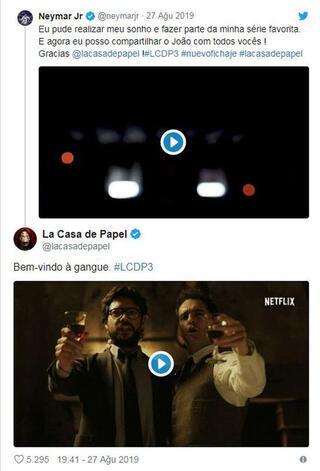 Neymardan La Casa de Papel sürprizi