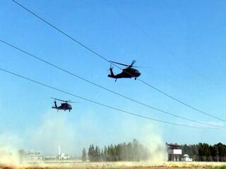 Fıratın doğusunda dördüncü ortak helikopter uçuşu