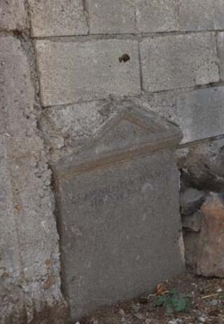 Bahçe duvarında tarihi keşif