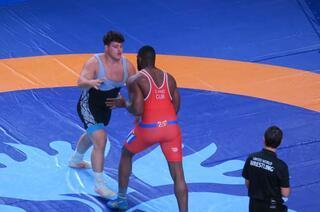 Rıza Kayaalpin Dünya Şampiyonu olduğu final maçından görüntüler