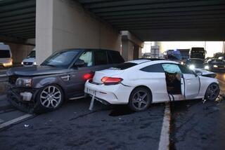Bu sabah İstanbul Lüks otomobilli maganda dehşeti
