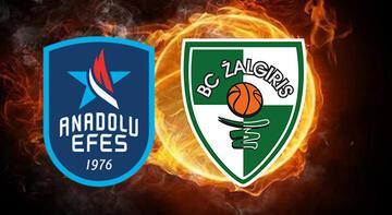 Anadolu Efes-Zalgiris maçı bu akşam saat kaçta hangi kanalda?
