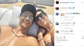 Tatilde dikkat çeken fotoğraf! Ronaldo ve Georgina...