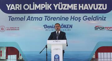 Bakan Kasapoğlu, İstanbul'da yüzme havuzu temel atma törenine katıldı!