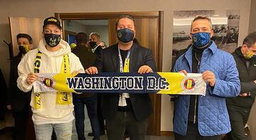 Mesut Özil ve Ali Koç'tan Fenerbahçe atkısı ile Washington DC United'a mesaj