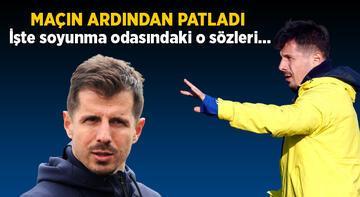 Son dakika Fenerbahçe haberleri: Emre Belözoğlu maç sonu patladı! İşte soyunma odasındaki o sözler...