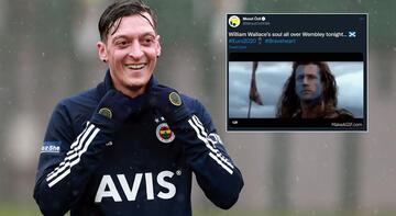 Son dakika haberi - Mesut Özil'den şaşırtan mesaj! İngiltere'yle alay etti