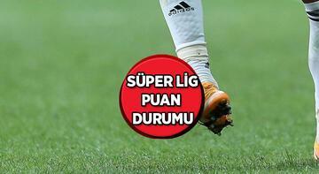 Süper Lig'de 6. haftanın ardından oluşan puan durumu ve alınan toplu sonuçlar...