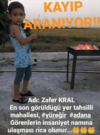 Adanada 2 gündür kayıp olan çocuğun cesedi bulundu