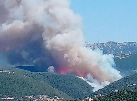 Lübnan'ın kuzeyindeki orman yangını yayılmaya devam ediyor