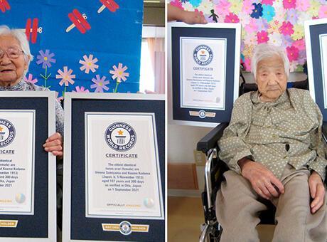 Dünyanın en yaşlı ikizleri 107 yaşında