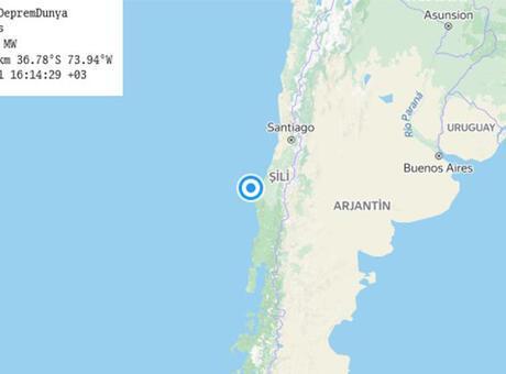 Son dakika: Şili açıklarında 6.2 büyüklüğünde deprem!