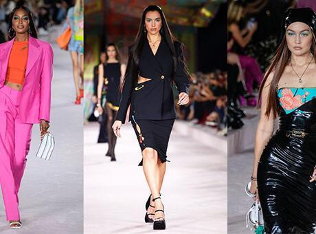 Milan Moda Haftası: Versace İlkbahar/Yaz 2022 defilesinden satır başları