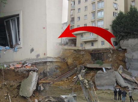 Üsküdar'da korku dolu anlar! İstinat duvarı çöktü