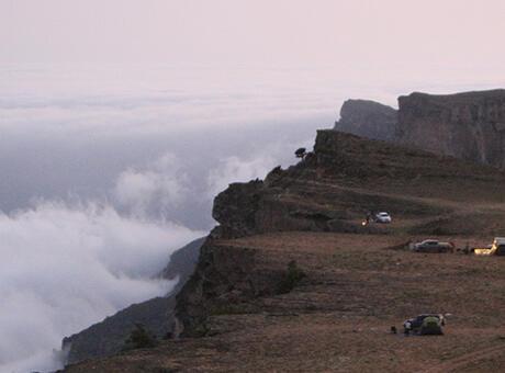 Umman'da bulutların üzerine çıkmak isteyen ziyaretçilerin adresi: 'Semhan Dağı'