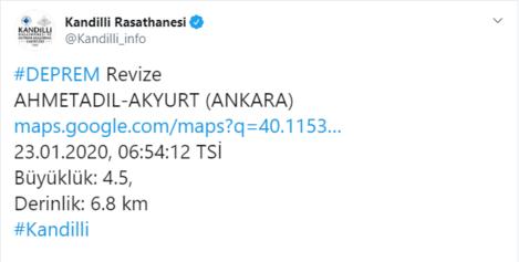 Son dakika Ankarada peş peşe depremler Depremlerin büyüklüğü...