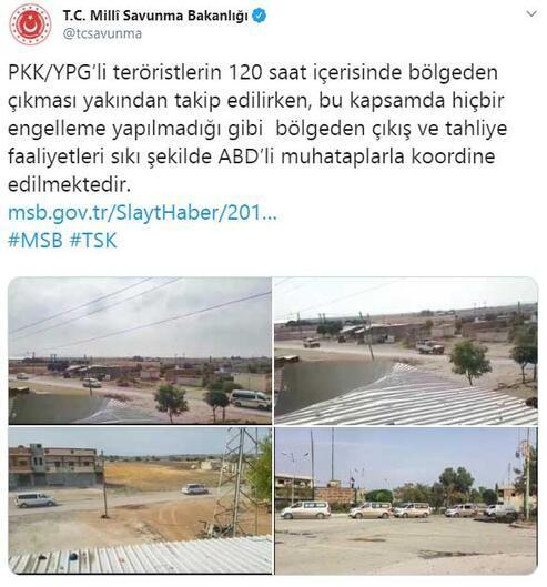 Son dakika PKK/YPGlilerin güvenli bölgeden çekilme anları kamerada