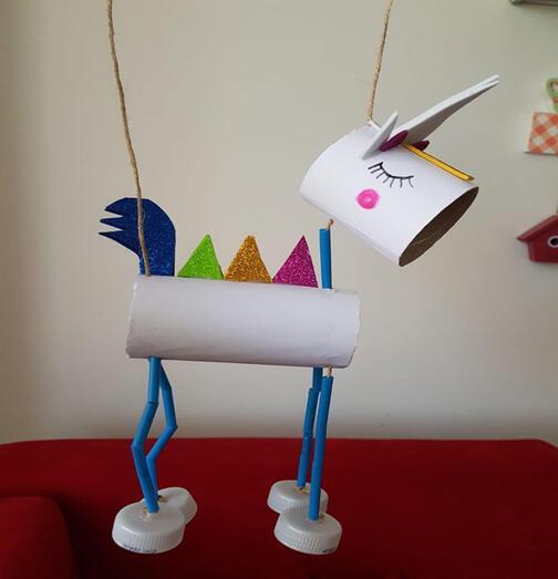 Tuvalet kağıdı rulosundan unicorn yapıyoruz