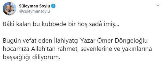 Bakan Soyludan Ömer Döngeloğlu mesajı