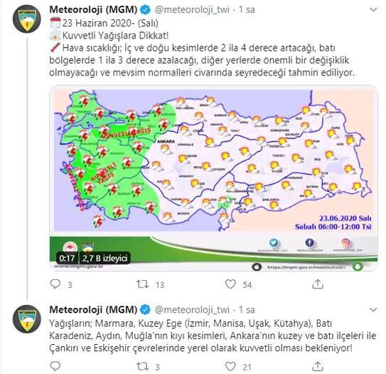Son dakika haberi: Meteoroloji uyardı, kuvvetli sağanak geliyor Bu illerde yaşayanlar dikkat
