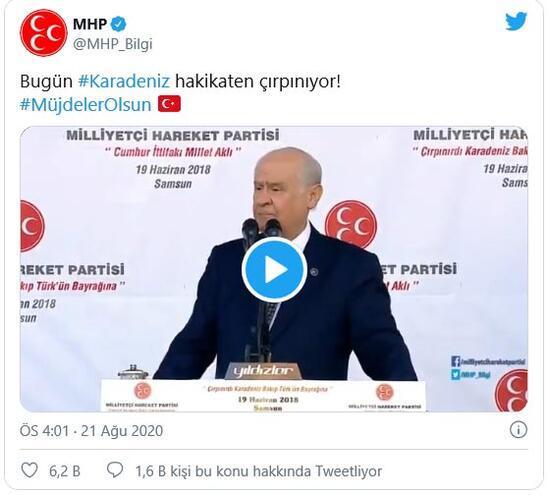 Cumhurbaşkanı Erdoğanın müjdesi sonrası MHPden anlamlı paylaşım