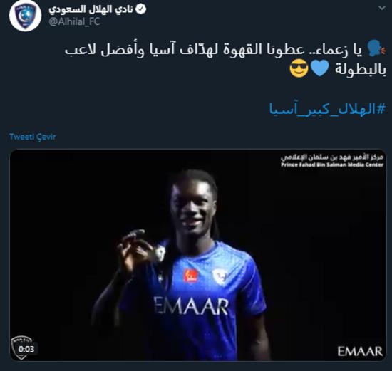 Şampiyonlar Ligi Al Hilalin Gomisten tek gol...