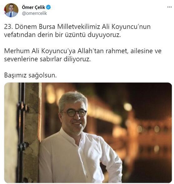Son dakika AK Parti eski milletvekili Ali Koyuncu hayatını kaybetti