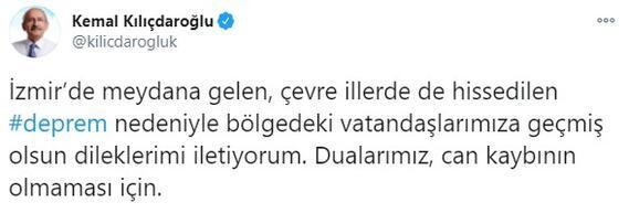 Son dakika I İzmirdeki deprem sonrası Kılıçdaroğlundan açıklama