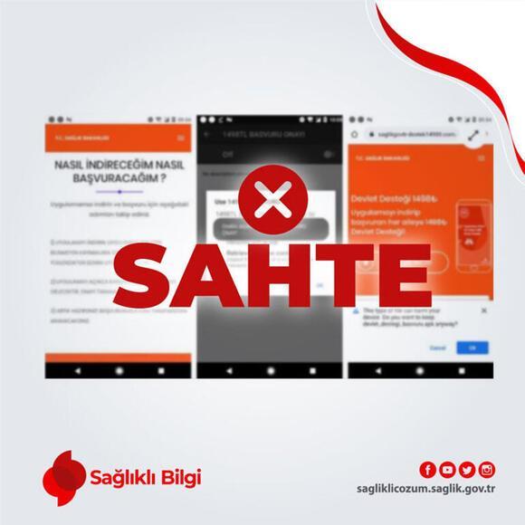 Son dakika I Sağlık Bakanlığı sahte internet siteleri ve uygulamaları açıkladı
