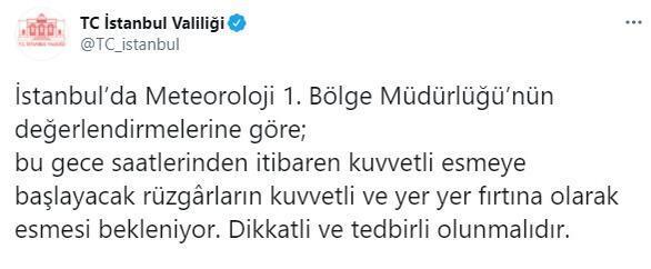 Son dakika... İstanbul için sarı kodlu uyarı Meteoroloji ve Valilikten peş peşe uyarılar