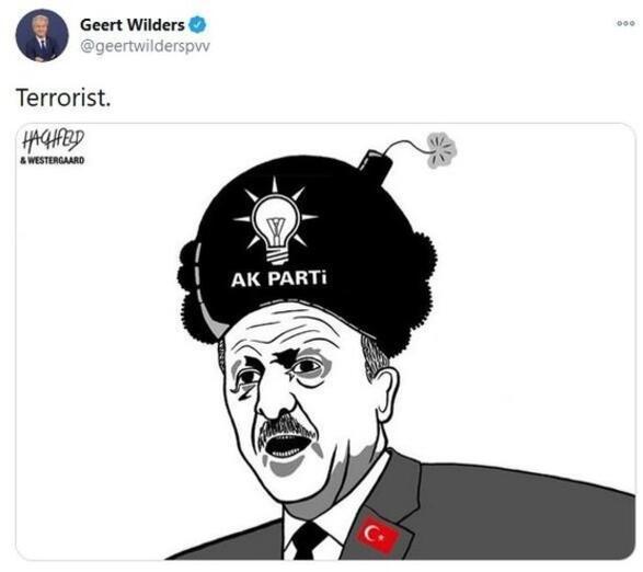 Son dakika... Geert Wildersten skandal paylaşım Cumhurbaşkanı Erdoğanı hedef aldı