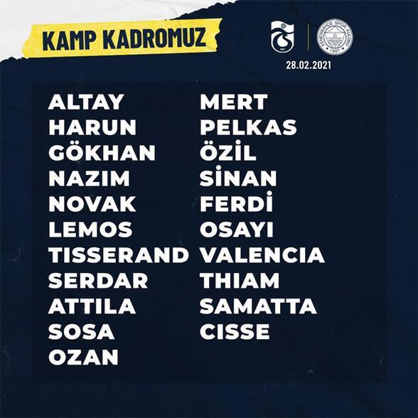 Son dakika | Fenerbahçede Caner Erkin depremi Trabzonspor maçı öncesi resmen açıklandı