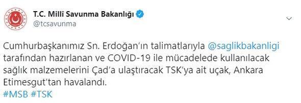 Son dakika... Türkiye Çada tıbbi yardım malzemesi gönderdi