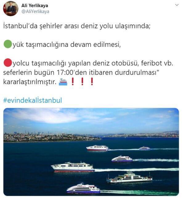 Son dakika haberi: İstanbul Valisi Ali Yerlikaya açıkladı: 17:00 itibariyle durduruldu