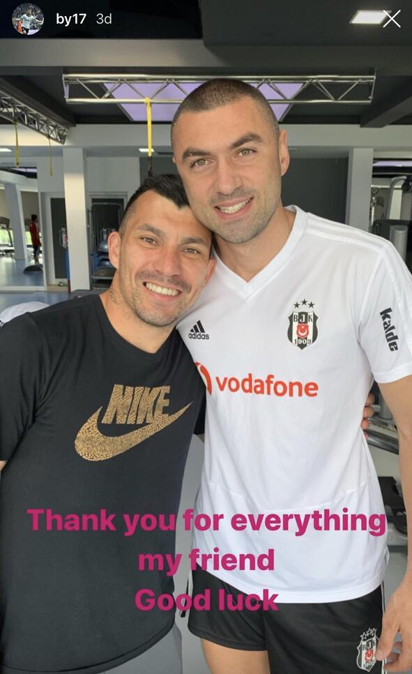 Medel, Beşiktaşla vedalaştı Burak ayrılığı açıkladı...