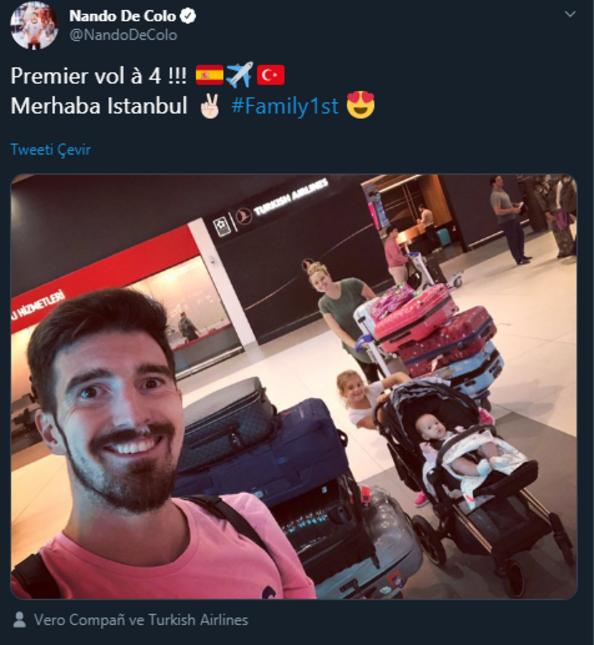 Nando de Colo İstanbula geldi