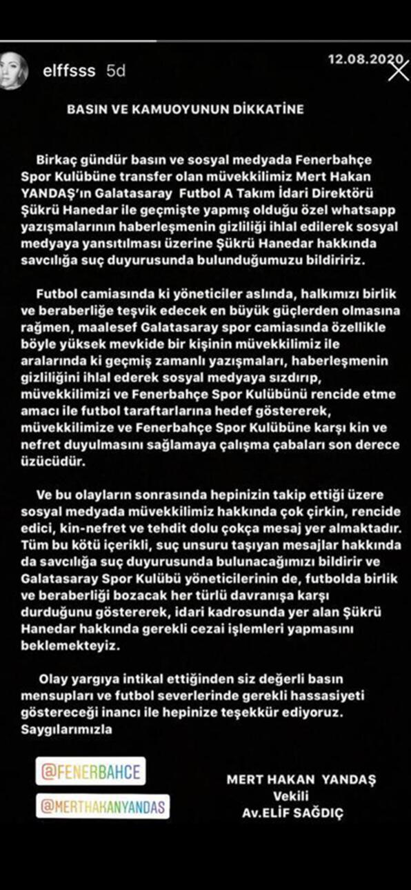 Son dakika | Şükrü Hanedar hakkında suç duyurusu Mert Hakan Yandaş...