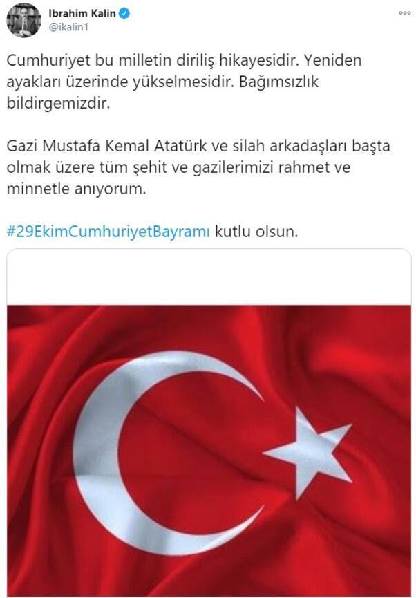 İbrahim Kalın: Cumhuriyet, bu milletin diriliş hikayesidir