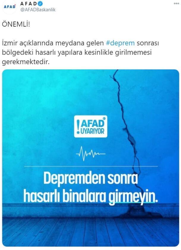 Son dakika... AFADdan deprem uyarısı İnternet ve SMSsi tercih edin